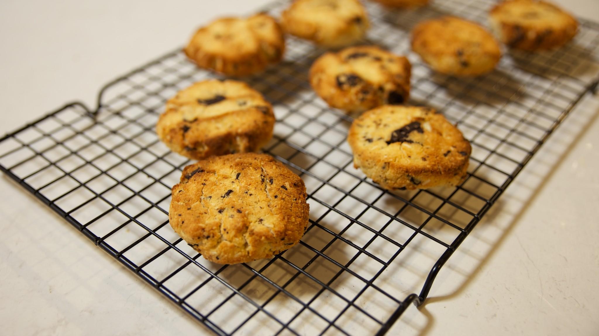 Choc Chunk Coconut Cookies