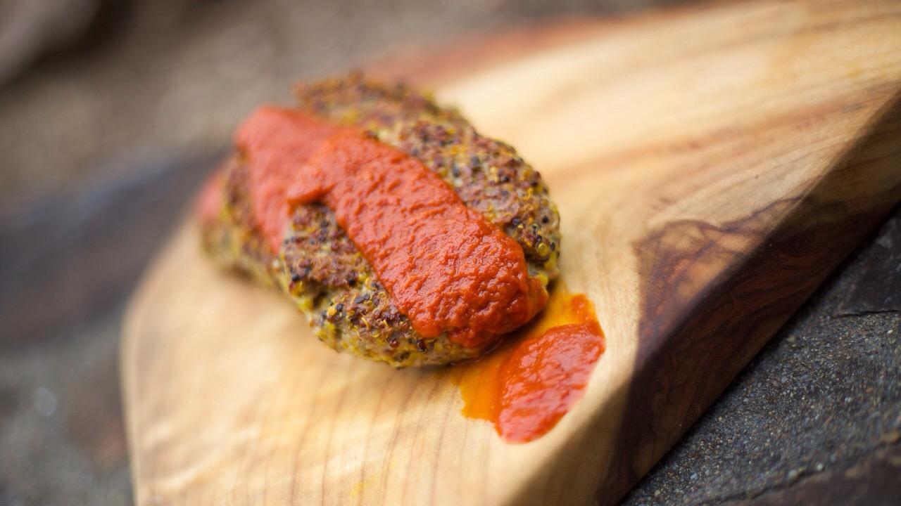 Turmeric Lamb & Quinoa Burgers