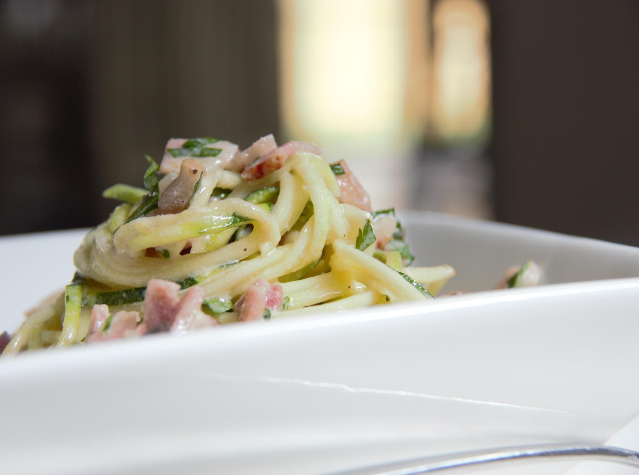 Spaghetti Carbonara (Paleo, Grain-Free)