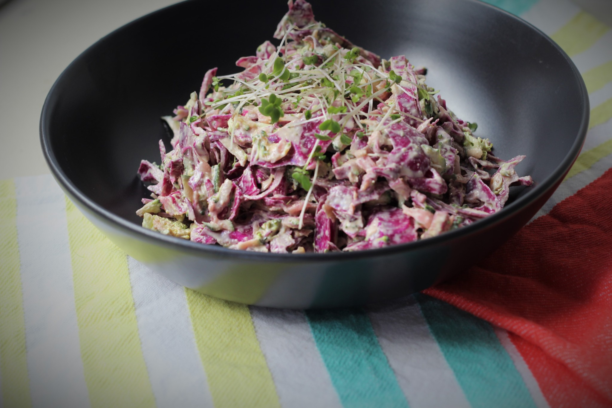 Loaded Slaw (paleo. vegetarian. probiotic)