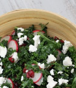 Kale, Cranberry & Goats Cheese Salad