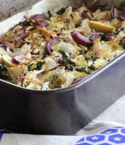 Roasted Cabbage & Kale Warm Salad (paleo. gf. df. vegan)