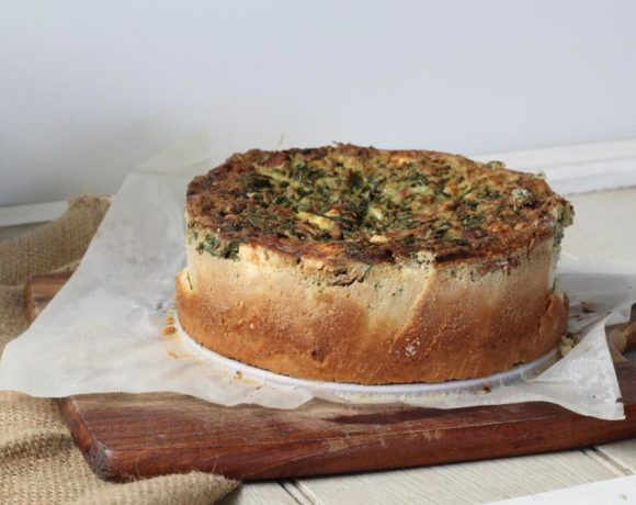 Spinach Pie (paleo. low carb. vegetarian)