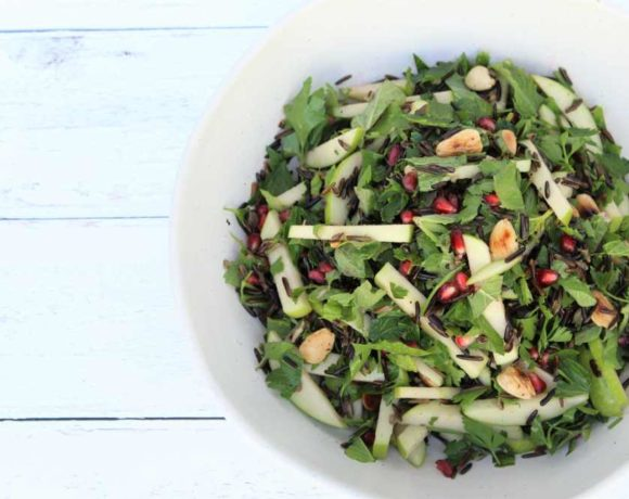 Black Rice & Pomegranate Salad (vegan. primal. low carb)