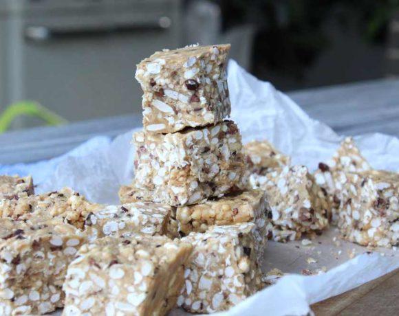 Peanut Butter Crispy Bars (vegan. gluten free. dairy free)